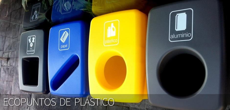 Ecopuntos de plástico