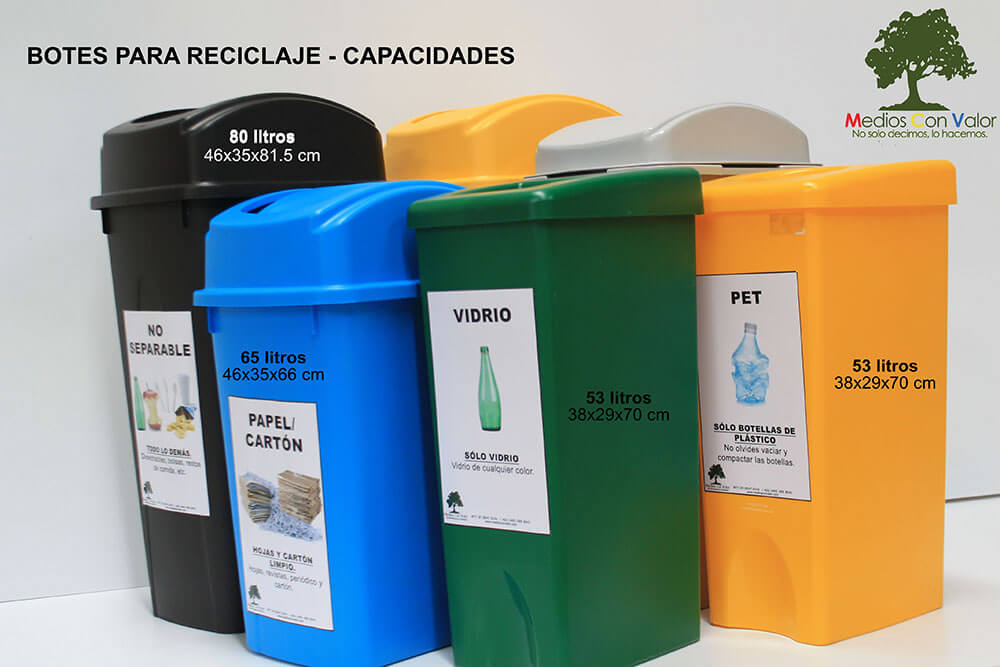 Botes para reciclaje